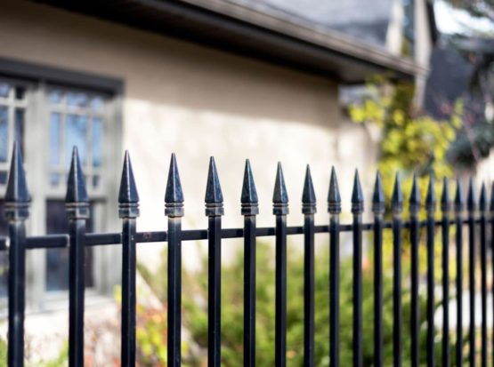 Iron Fence with Pointed Tips for extra protection