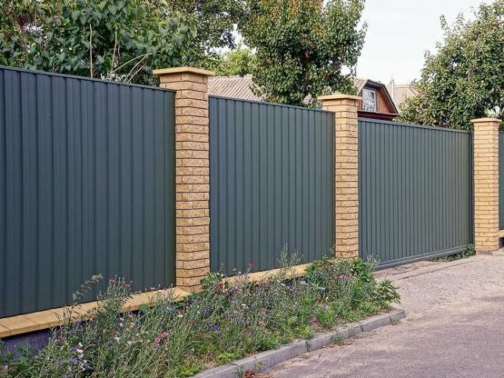 Installed Colorbond Fence